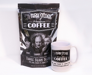 Three Bean Blend with Mug by The Three Stooges® Coffee